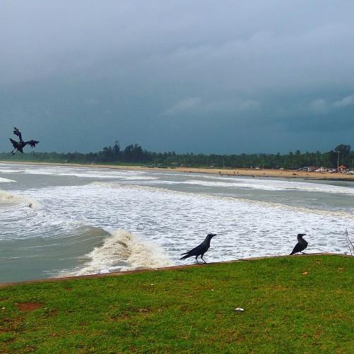 view of Gokarna beach from hill