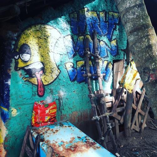 Wall Graffiti at Half Moon beach