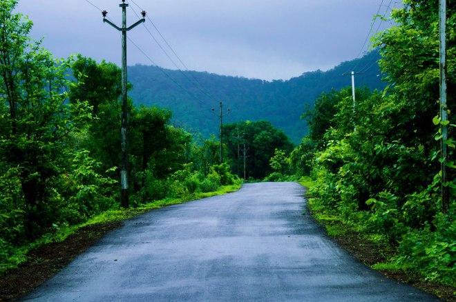 The road to Khandas village