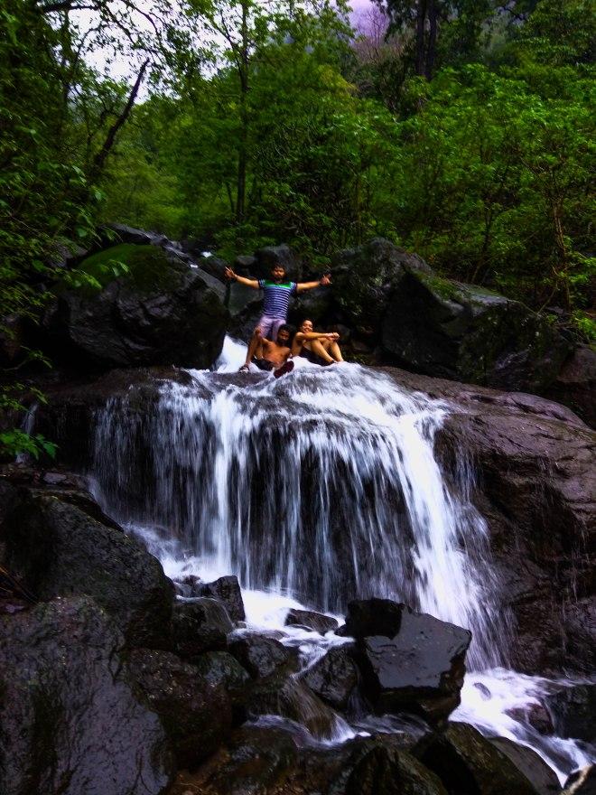 waterfall enroute ganesh ghat