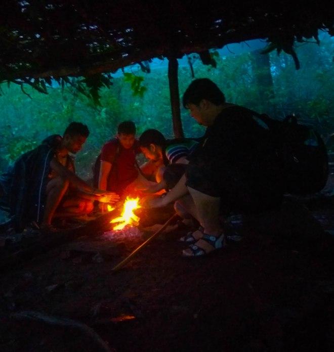 bonfire in bhimashankar
