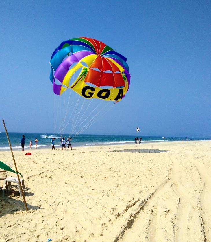 Adventure sports at Majorda Beach- South Goa