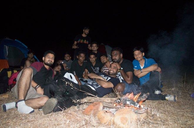 Bonfire in Rajmachi