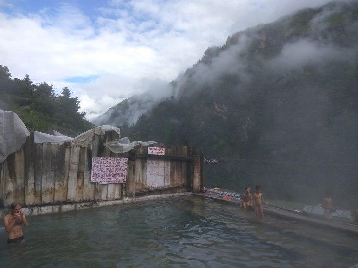 Hot Water spring- Kheerganga