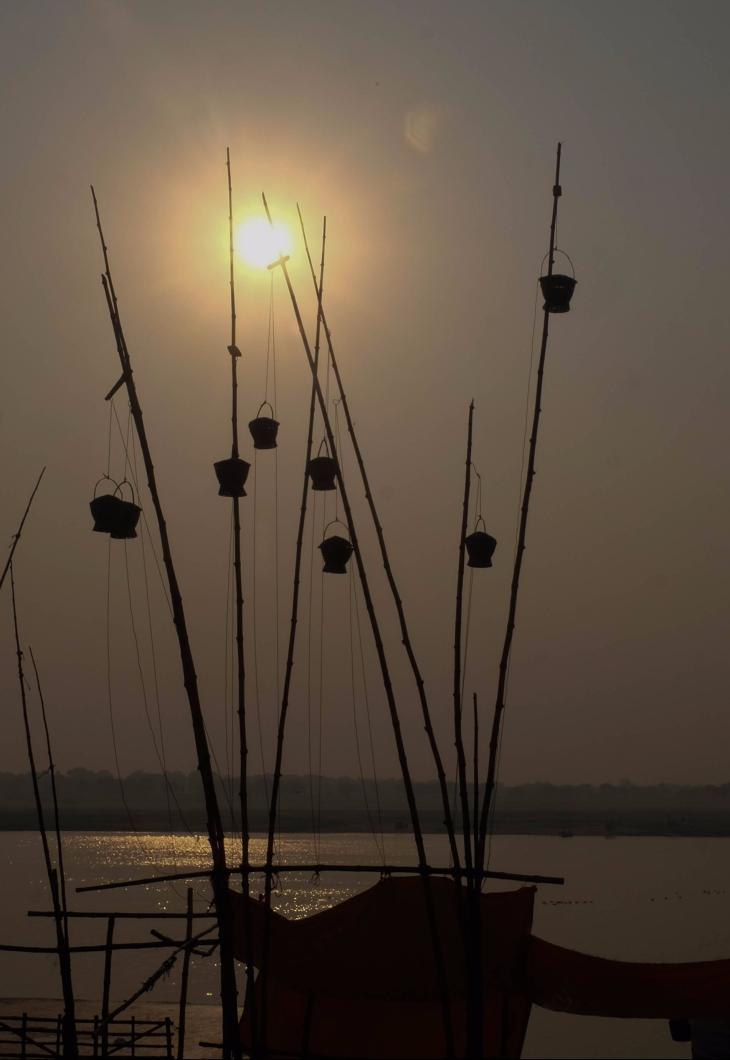 Morning at Manikarnika Ghat.
