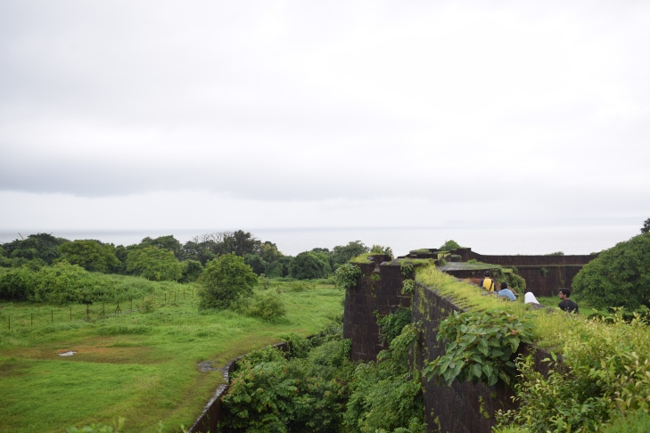 Jaigad Fort surrounded by moats
