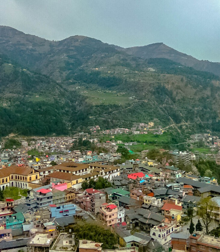 Bird's eye view of Chamba