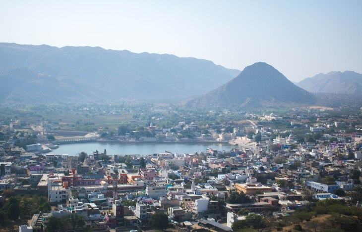 Bird view of Pushkar