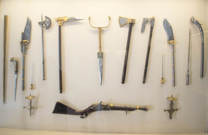 weapons at Mehrangarh fort